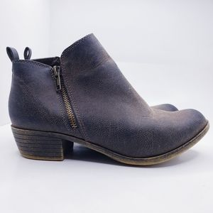 Dunes Brown Dolly Zipper Ankle Booties Womens 7.5